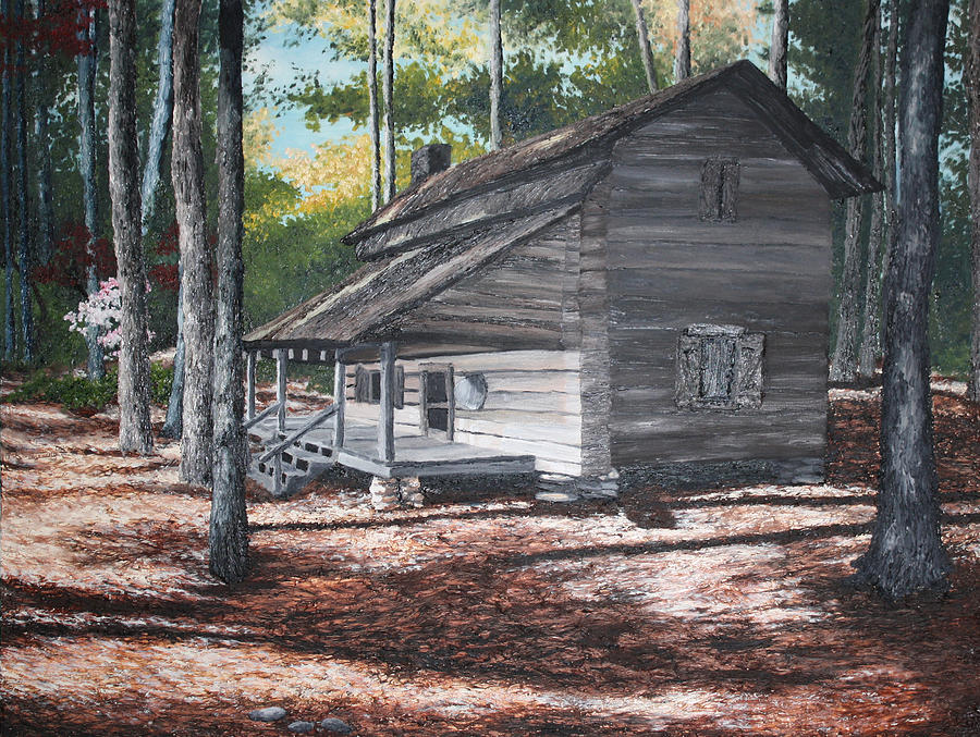 Woods Painting - Georgia Cabin In The Woods by Beth Parrish