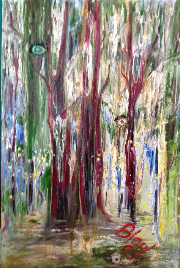 Trees Painting - Georgia Marsh in March by Peggy  Blood
