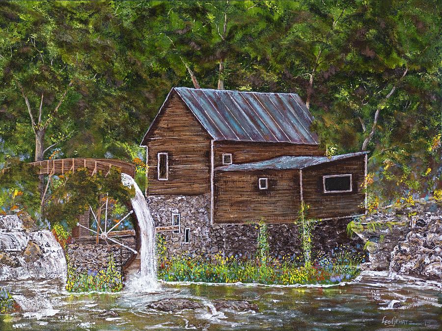 Sunshine Painting - Georgia Mill by Leo Gehrtz
