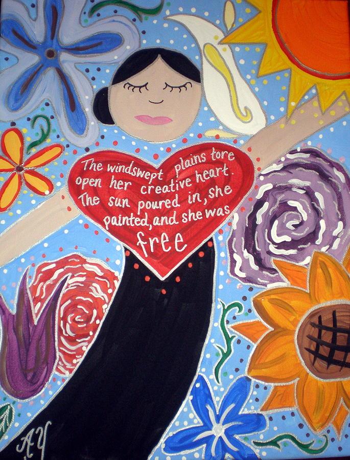 Icon Painting - Georgia Okeeffe by Angela Yarber