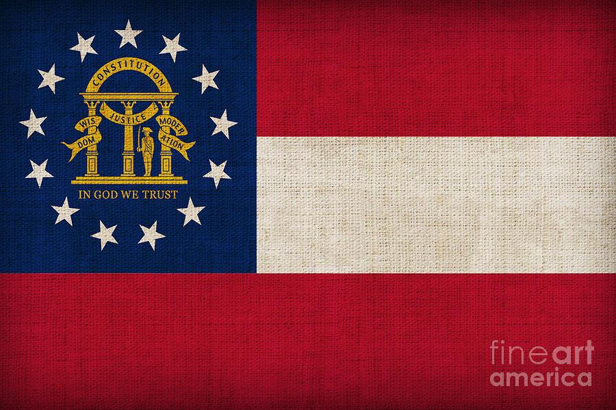 Georgia Painting - Georgia State Flag by Pixel Chimp