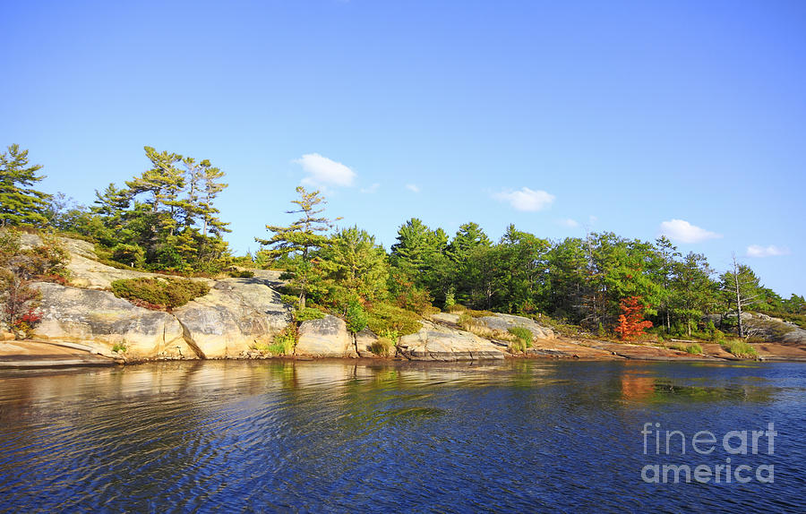 Georgian Bay Islands National Park Photograph - Georgian Bay Island by Charline Xia