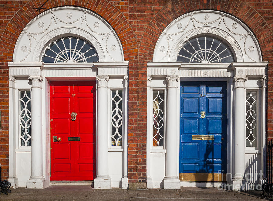 Architecture Photograph - Georgian Doors by Inge Johnsson