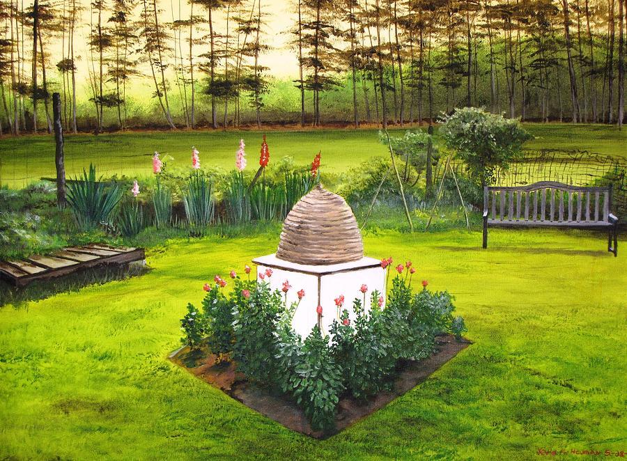 Flowers Painting - Georgian Herb Garden by Kevin F Heuman