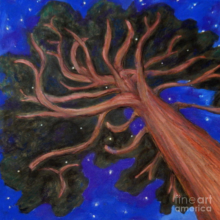 Pine Painting - Georgias Pine by Mona Younavjak Hansen