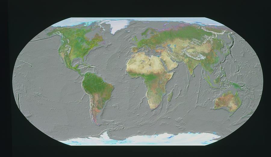 Geosphere Map Of Ocean Floor