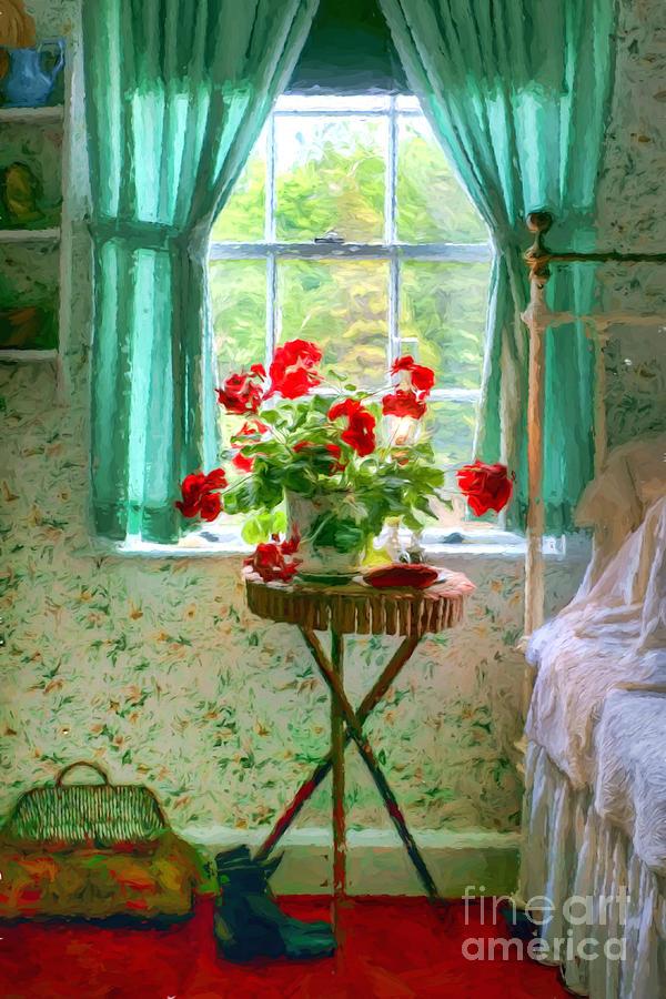 Geraniums Photograph - Geraniums In The Bedroom by Nikolyn McDonald