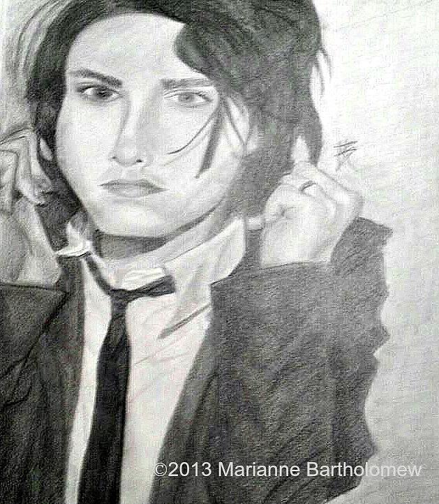 Gerard Way Drawing - Gerard Way by Marianne Bartholomew