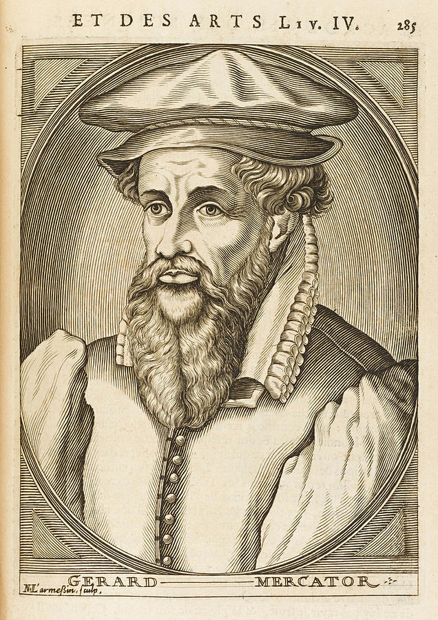 Mercator Drawing - Gerardus Mercator Known Also As Gerhard by Mary Evans Picture Library