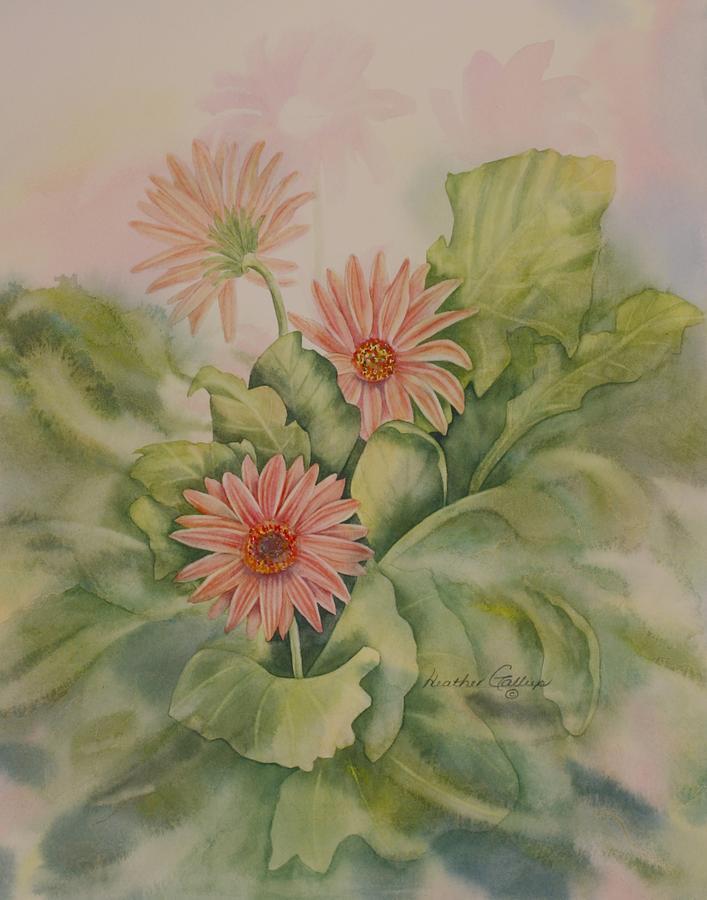 Gerbera Painting - Gerbera  by Heather Gallup