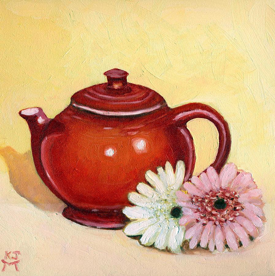 Gerbera Daisies Painting - Gerberas by Katherine Miller