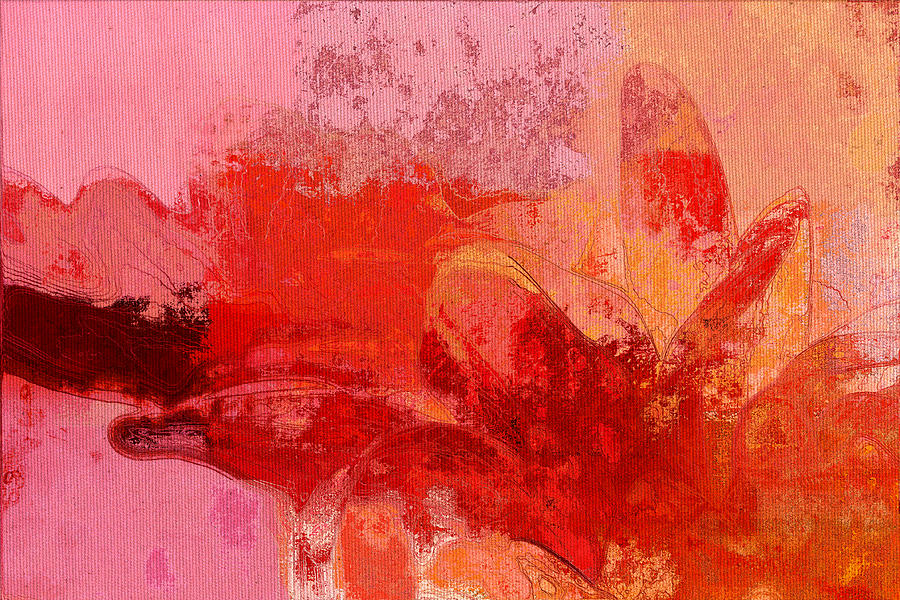 Flower Digital Art - Gerberie - 221at02 by Variance Collections