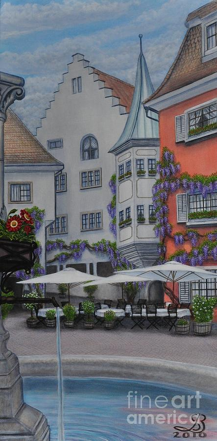 Germany Painting - German Cafe by J Barth