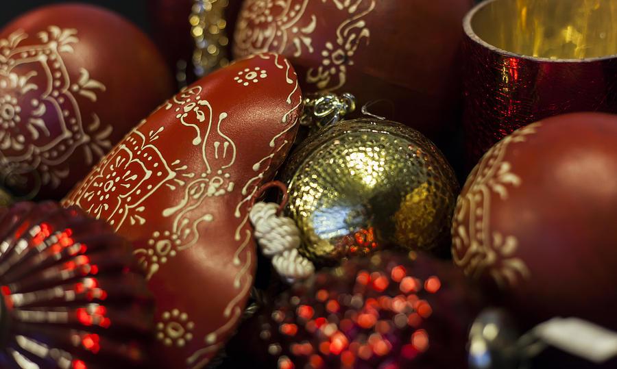 German Christmas Decorations.German Heart Christmas Decorations