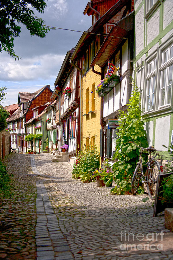 Quedlinburg Photograph - German Old Village Quedlinburg by Heiko Koehrer-Wagner