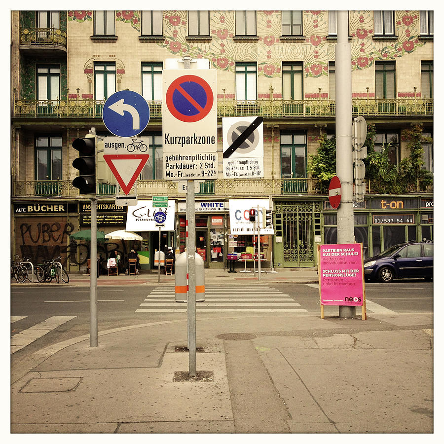 German Traffic Signs Photograph by Christina Reichl Photography
