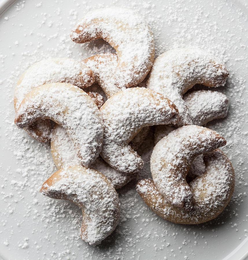 German Vanilla Biscuits Vanilla Kipferl Photograph by Larry Washburn