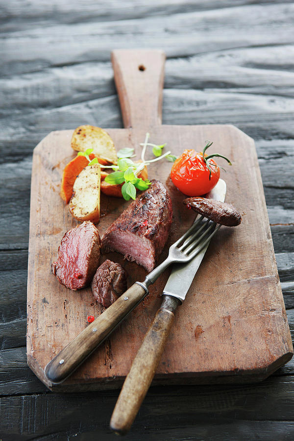 Germany, Bremen, Steak With Vegetable Photograph by Westend61