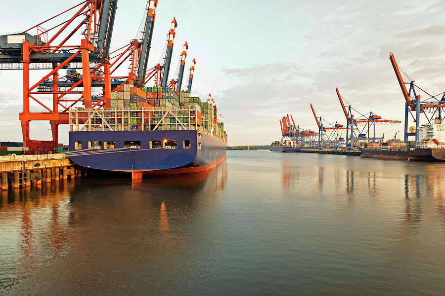 Germany, Hamburg, View Of Container Photograph by Westend61