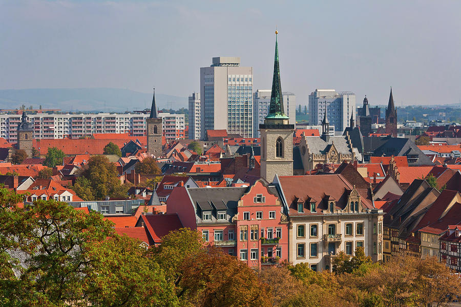 Germany, Thuringia, Erfurt, View Of City Photograph by Westend61