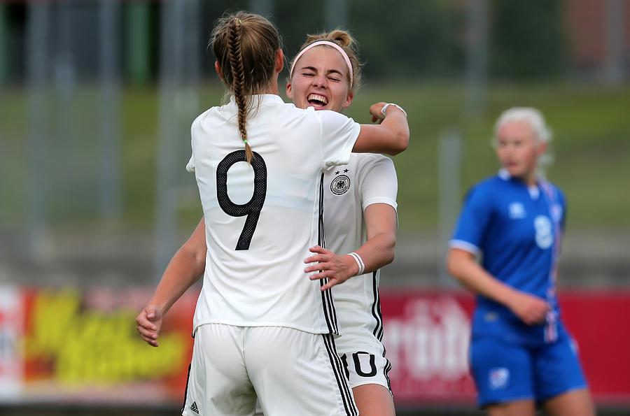 Germany V Iceland - U19 Womens Elite Round Photograph by Matthias Kern