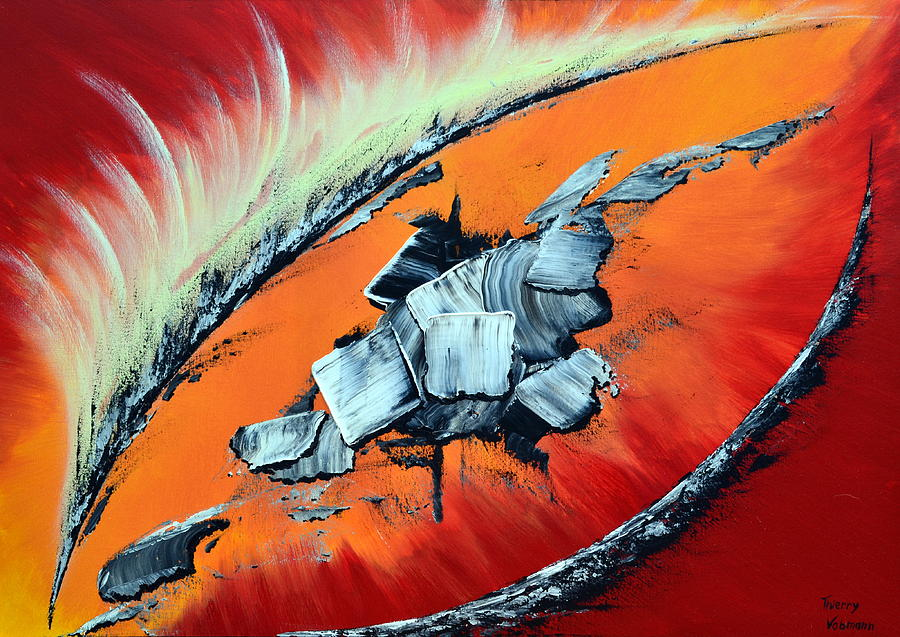 Abstract Painting - Geronimo by Thierry Vobmann