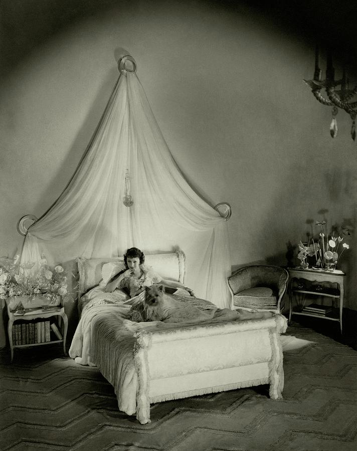 Gertrude Lawrence In Bed Photograph by Cecil Beaton