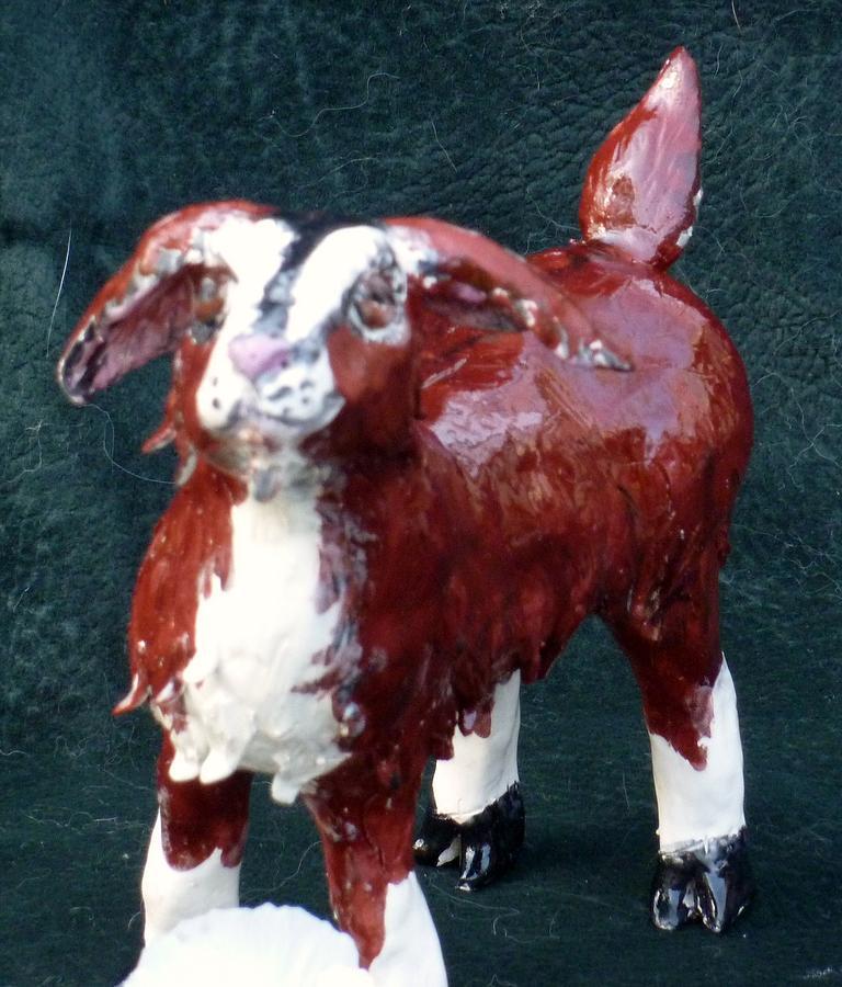 Goat Sculpture - Get Your Goat by Debbie Limoli