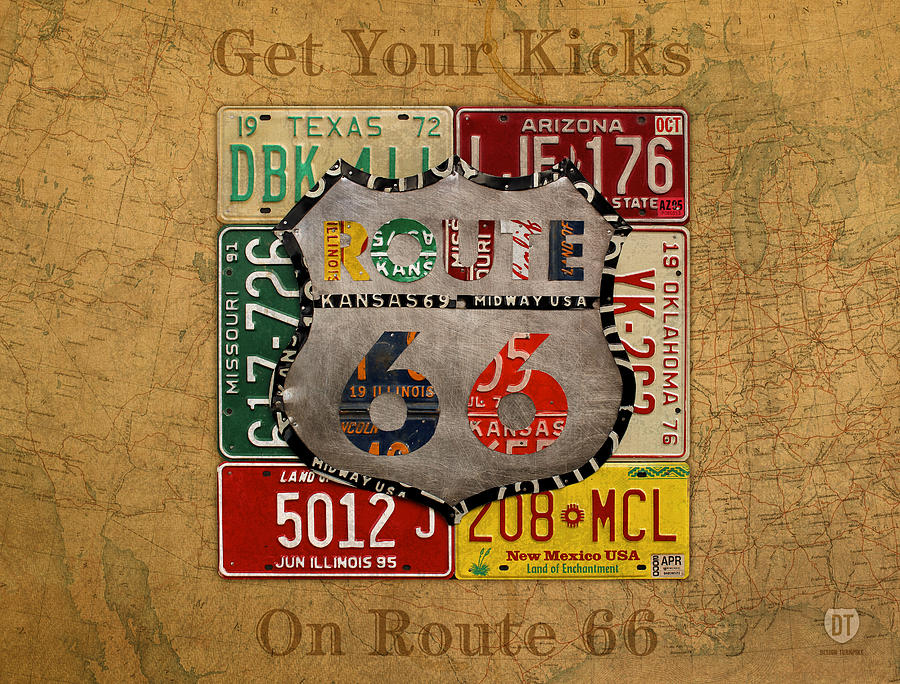 Get Your Kicks On Route 66 Vintage