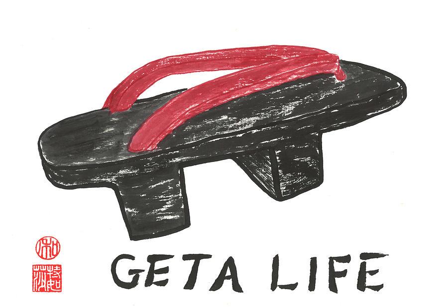 Japanese Painting - Geta Life by Terri Harris