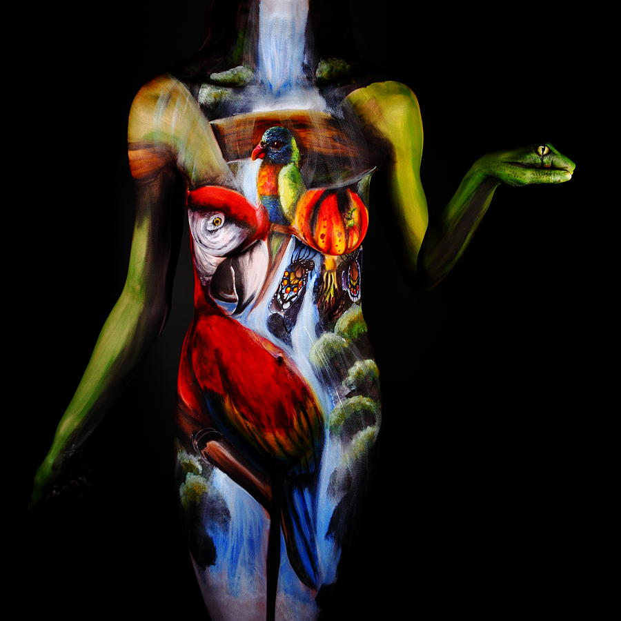 Body Paint Photograph - Getaway by Angela Rene Roberts and Cully Firmin