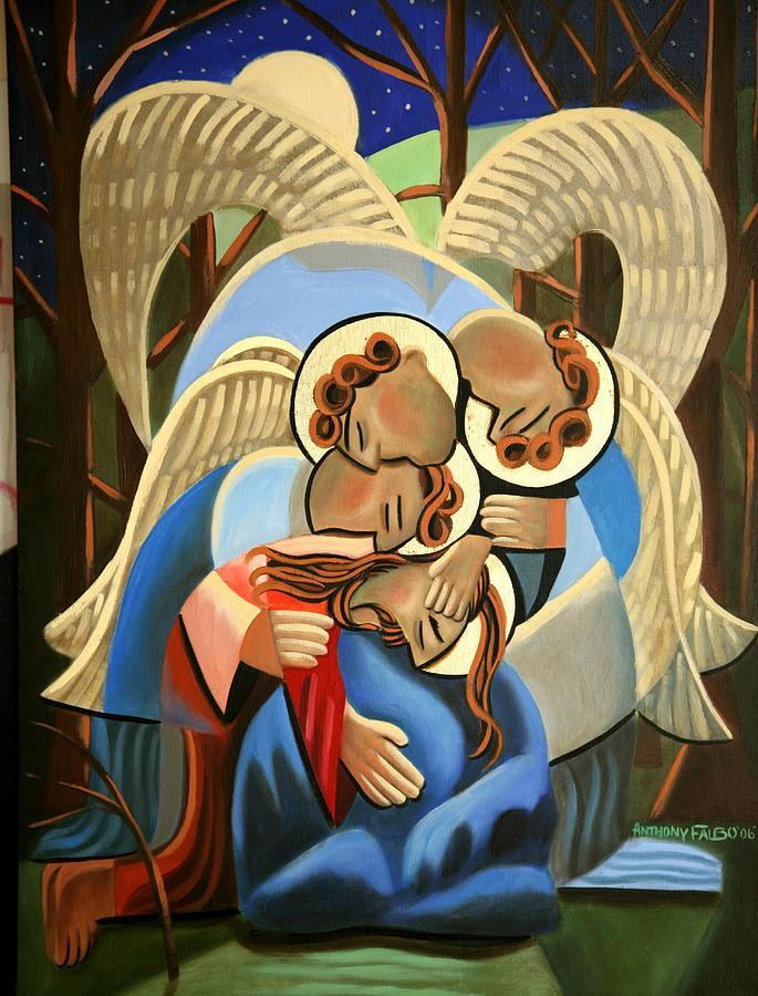 Jgethsemane The Hour Is Near Painting - Gethsemane The Hour Is Near by Anthony Falbo