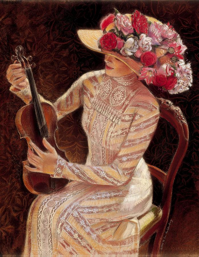 Vintage Painting - Getting In Tune by Sue Halstenberg