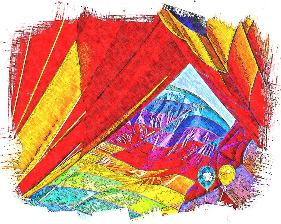 Hot Air Balloons Digital Art - Getting Ready by Ken Evans