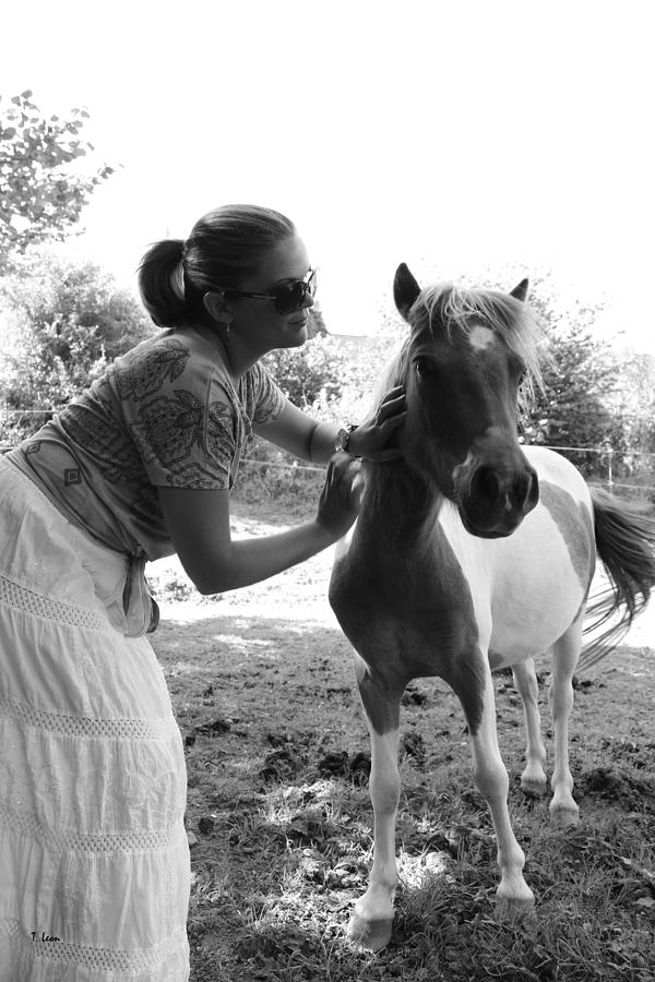 Woman Photograph - Gg And Her Horse by Thomas Leon
