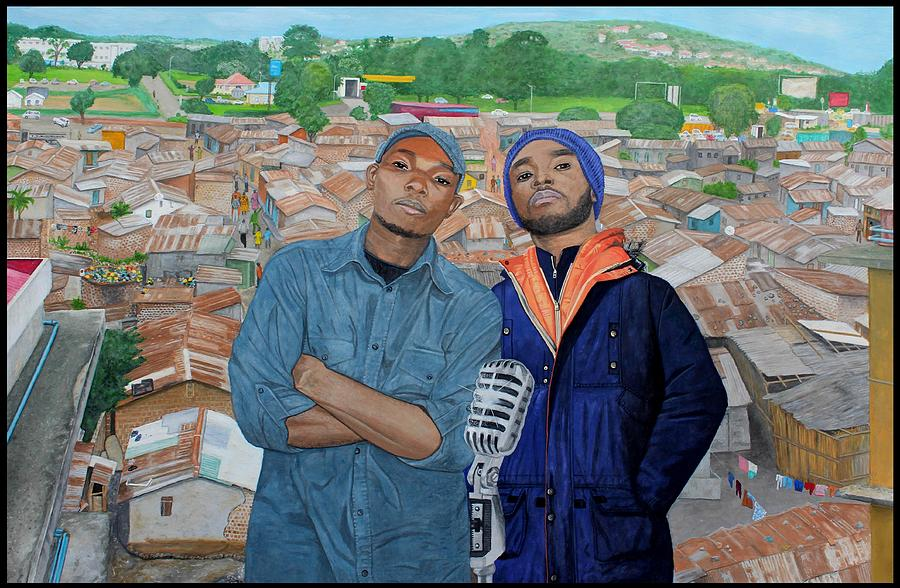 Hip Hop Painting - Ghetto Voice by Daniel Kisekka