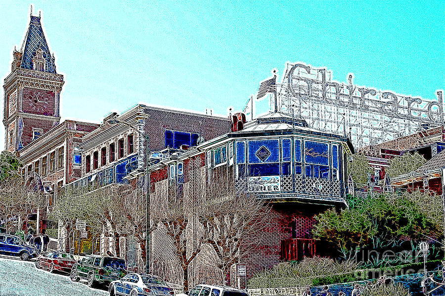 San Francisco Photograph - Ghirardelli Chocolate Factory San Francisco California 7d14093 Artwork by Wingsdomain Art and Photography