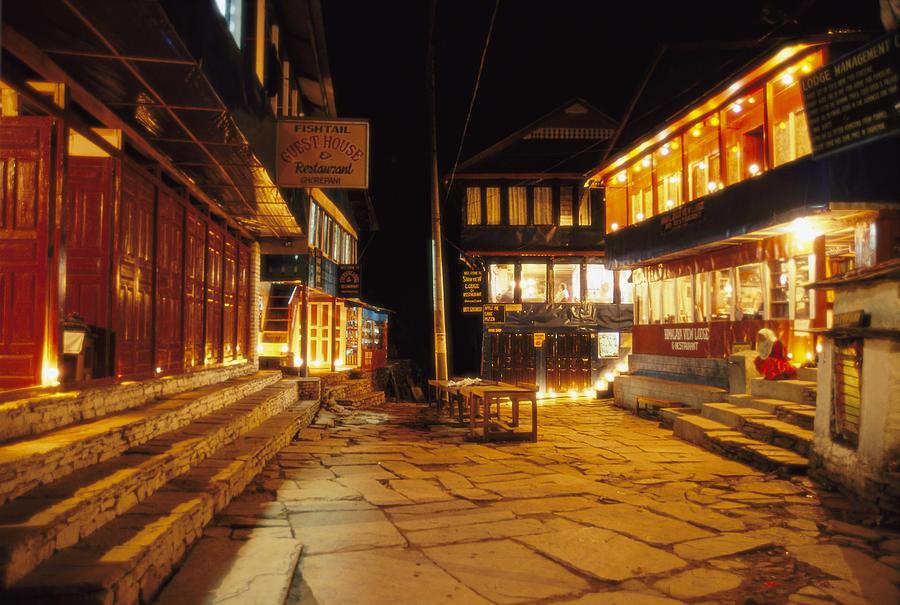 Nepal Photograph - Ghorepani At Night by Richard Berry