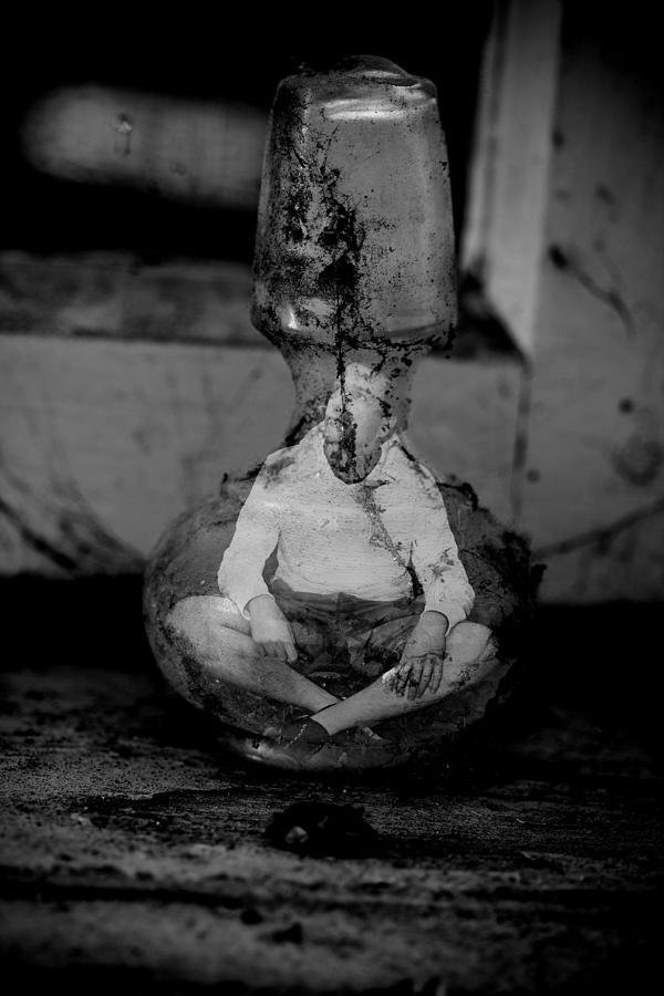 Bottle Digital Art - Ghost In The Shell  by Svetoslav Sokolov