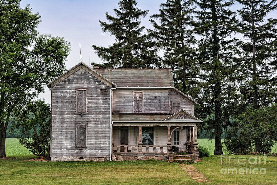 Old Farm House Photograph - Ghost Manor by Pamela Baker