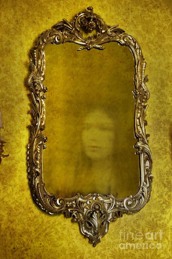 Mirror Photograph - Ghost Of A Woman Reflected In A Mirror by Lee Avison