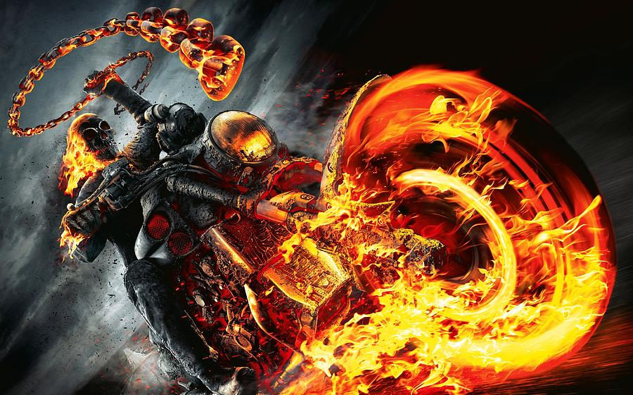 Ghost rider - Speed art (#Photoshop) | CreativeStation ...  |Ghost Rider Digital Painting Photoshop