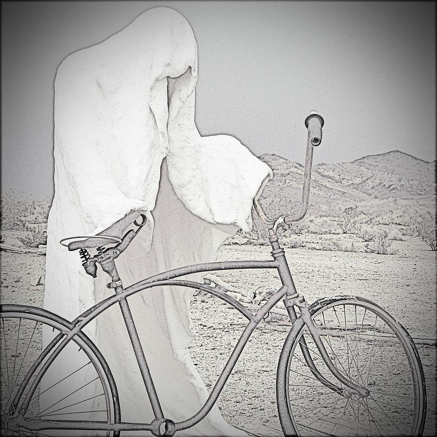 Bike Photograph - Ghost Rider Sketch by Marcia Socolik