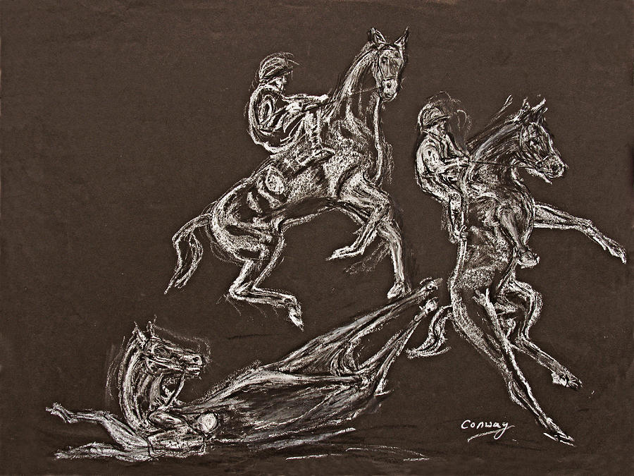 Rearing Horse Drawing - Ghost Riders in the Sky by Tom Conway