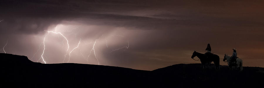 Lightning Photograph - Ghost Riders by Michael Van Beber
