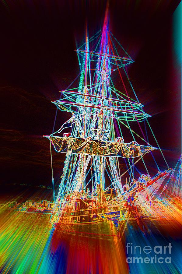 Ghost Ship Digital Art - Ghost Ship by Lorles Lifestyles