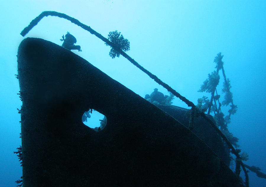 Ship Wreck Photograph - Ghost Ship by Paula Marie deBaleau