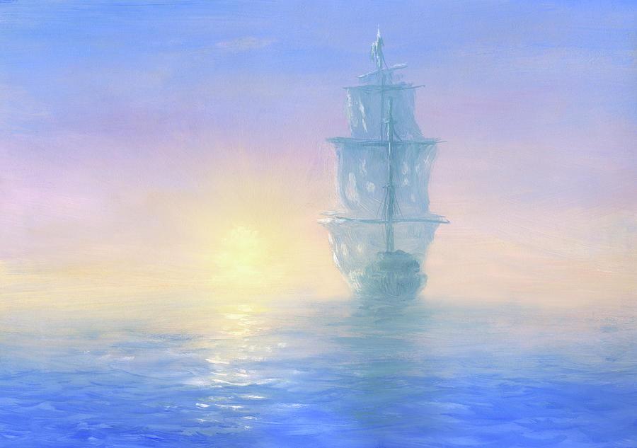 Ghost Ship Digital Art by Pobytov