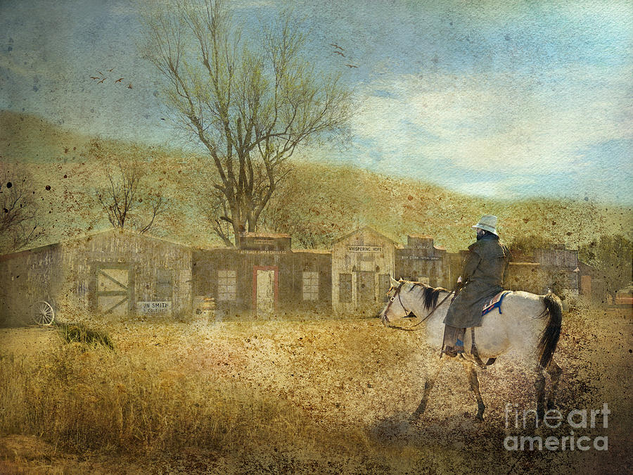Cowboy Photograph - Ghost Town #1 by Betty LaRue