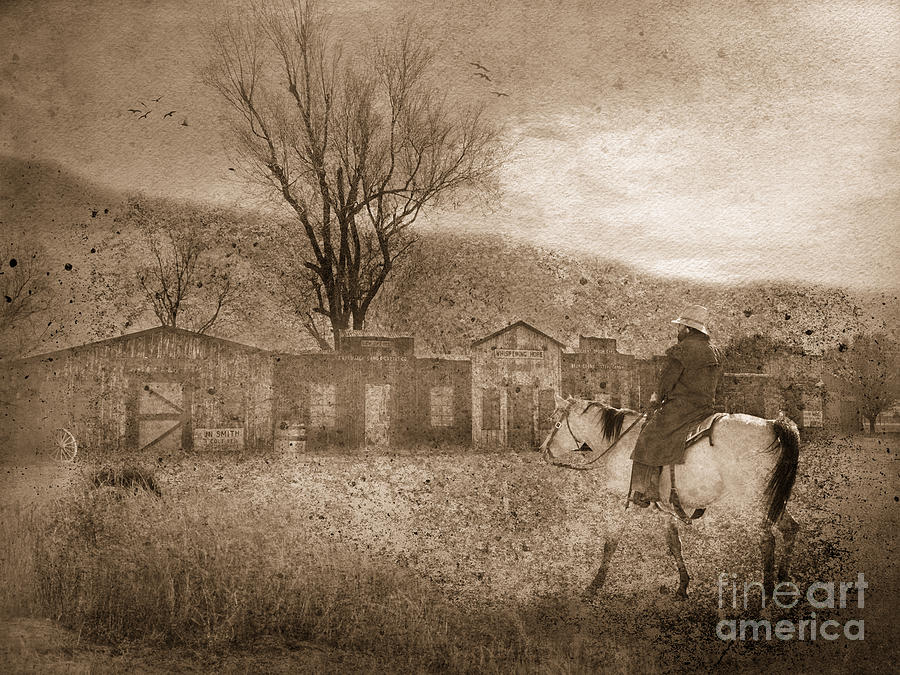 Cowboy Photograph - Ghost Town #2 by Betty LaRue